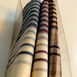 Vintage YSL Set of Three Handkerchiefs Original